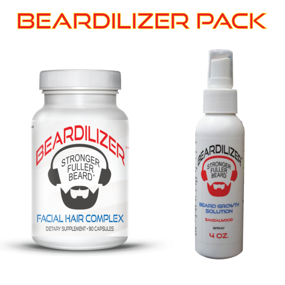 Beard Supplement and Beard Spray Value Pack