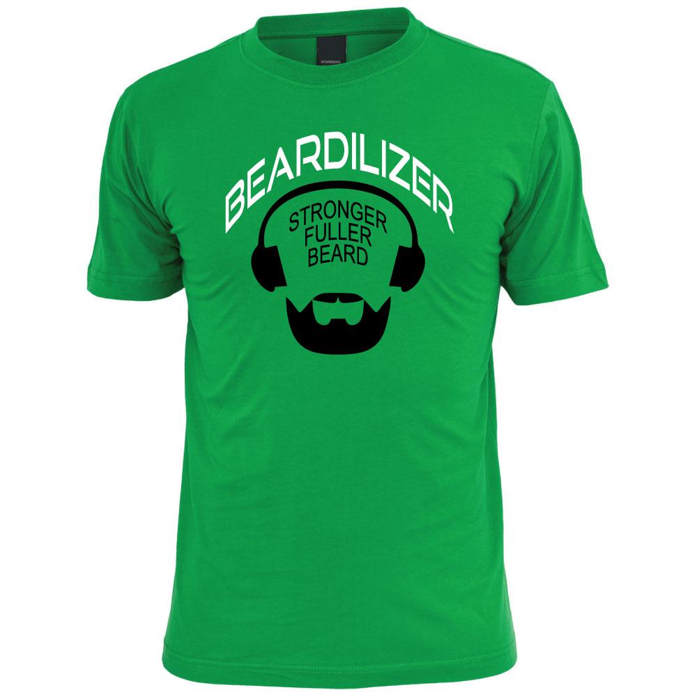 Buy green beardilizer t shirt for men beardilizer for Green mens t shirt