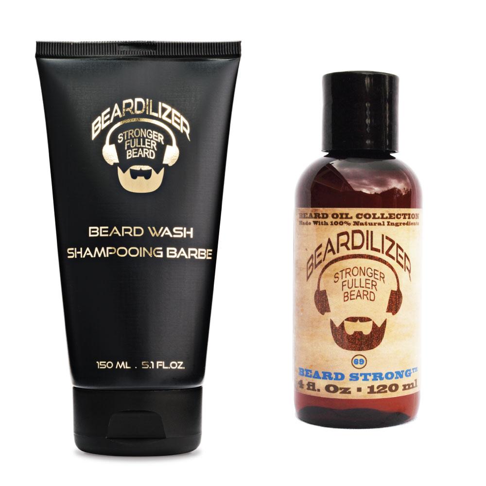 beard wash & beard oil pack