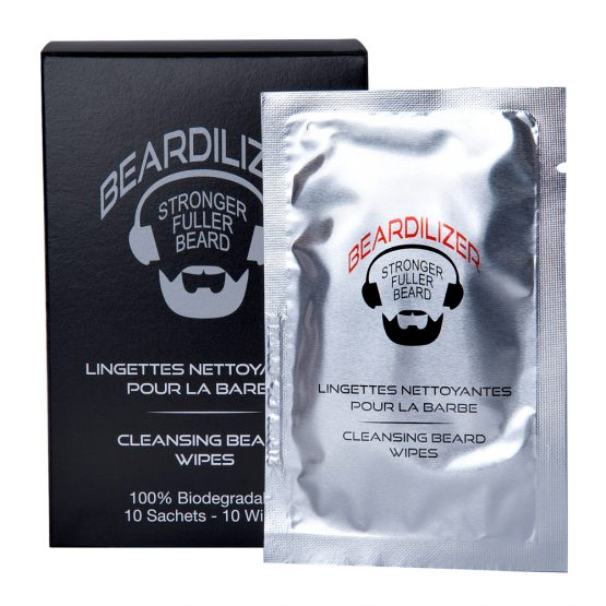 beard cleansing wipes